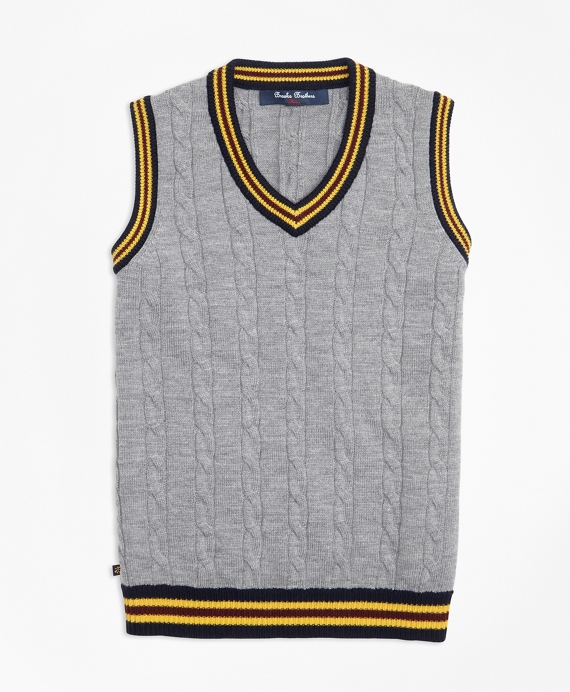 Merino Wool Tipped Vest
