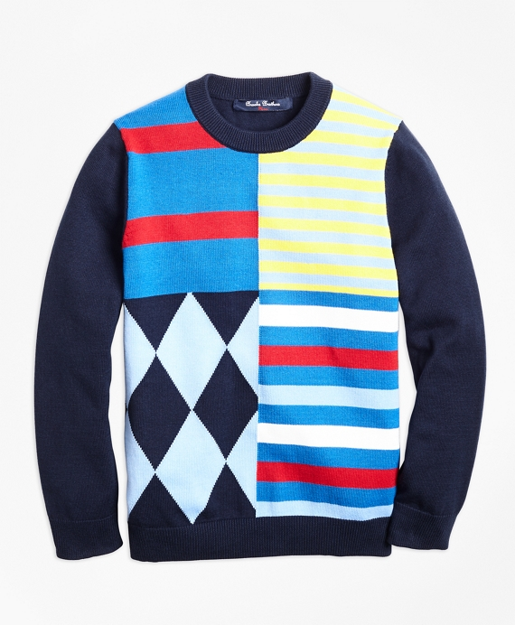 Cotton Crewneck Fun Sweater