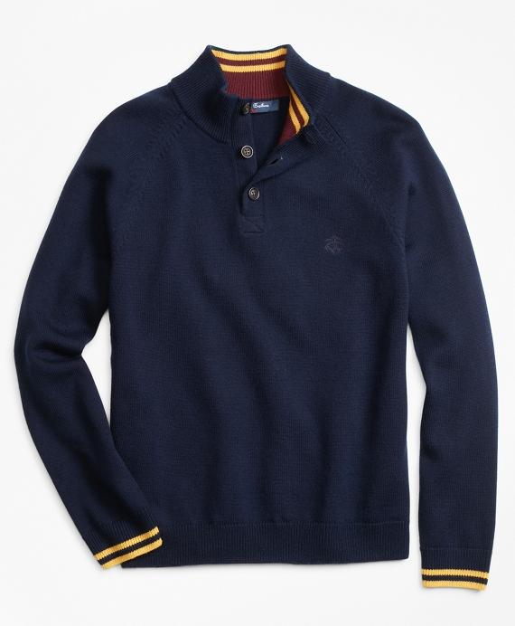 Wool Mockneck Sweater Navy