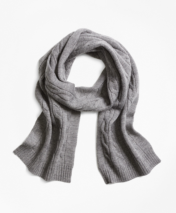 Merino Wool Cable Scarf