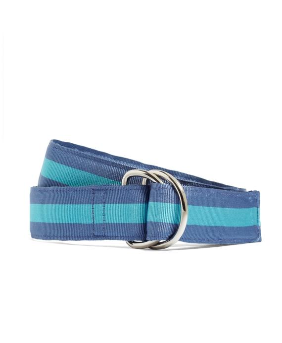Stripe Ribbon Belt Blue
