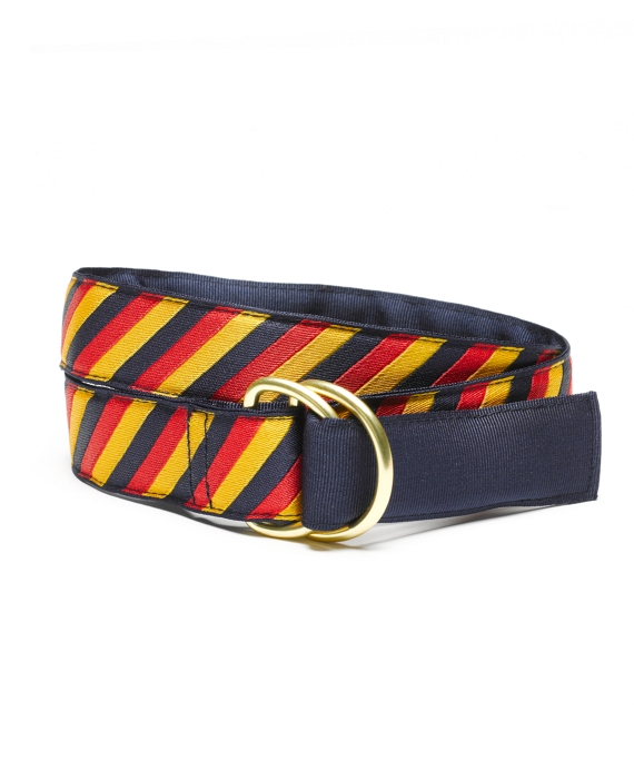 Reversible Stripe Belt Navy