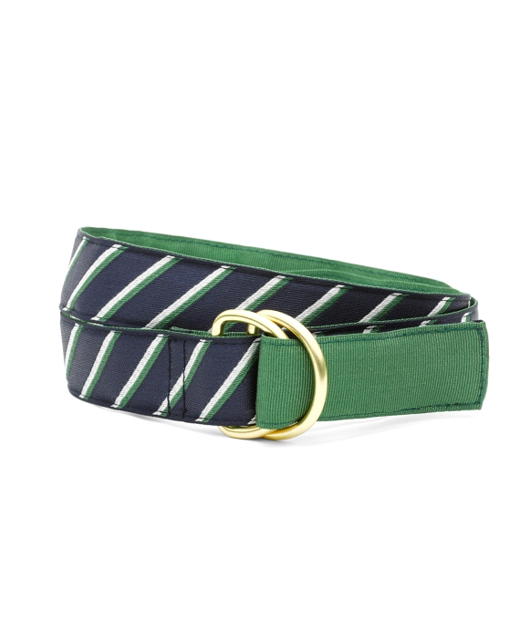 Reversible Stripe Belt Green