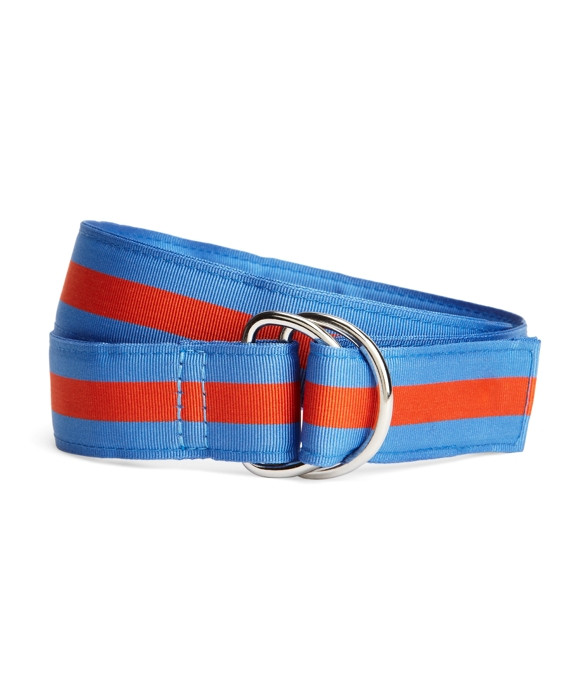 Stripe Ribbon Belt Blue
