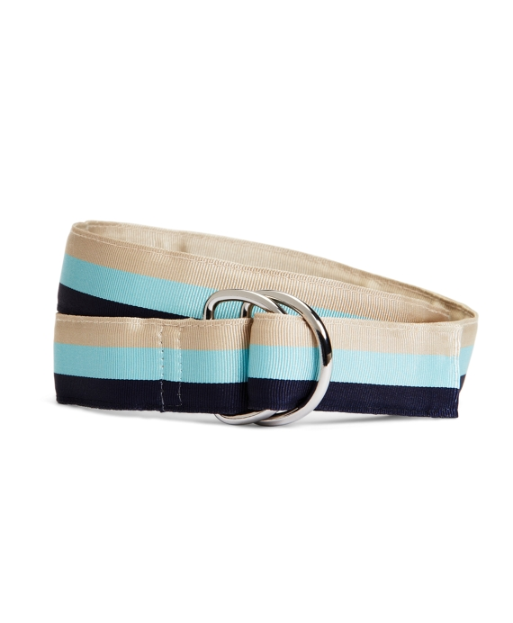 Stripe Ribbon Belt Khaki