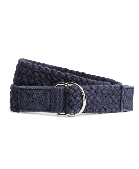 Solid Weave D-Ring Belt Navy