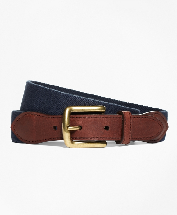 Elastic Casual Belt Navy