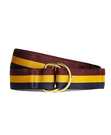 Stripe Grosgrain Ribbon Belt
