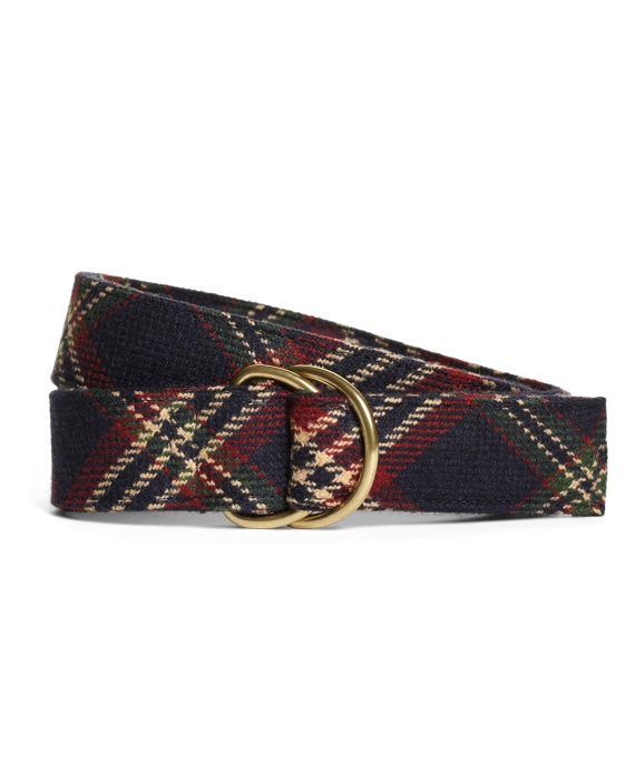 Signature Tartan D-Ring Belt Navy Multi