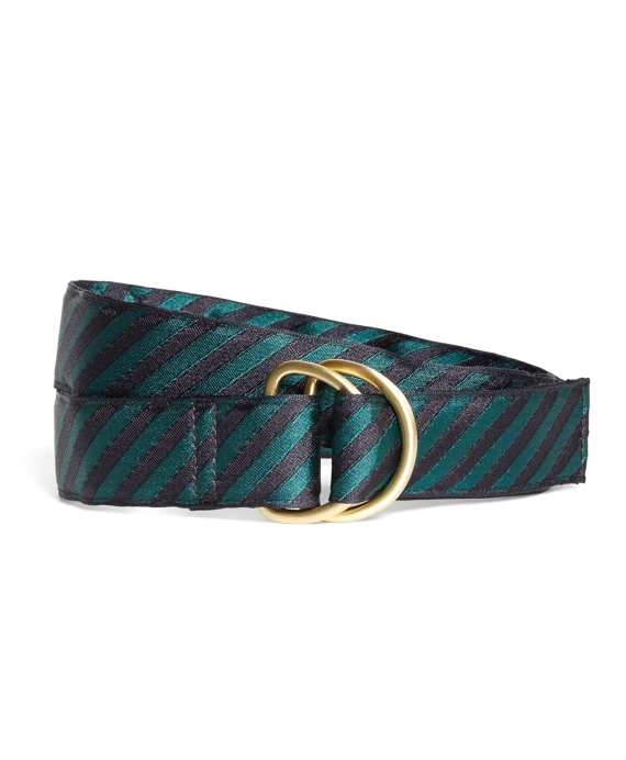 Tie Stripe Belt Green-Navy