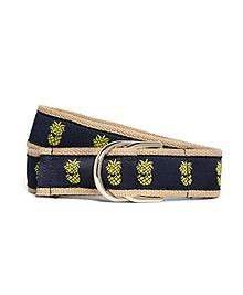Embroidered Ribbon Belt