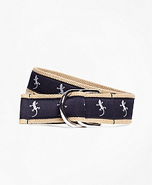 Embroidered Ribbon Belt