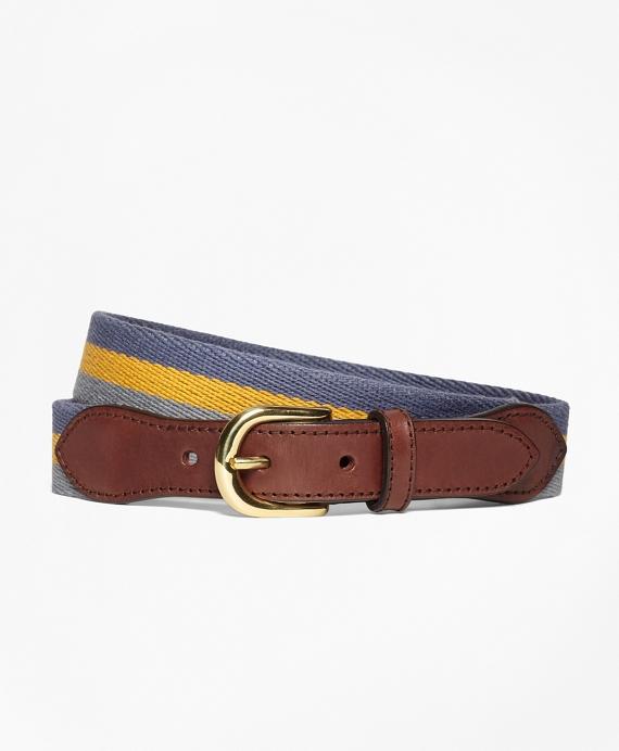 Stripe Cotton Belt Blue
