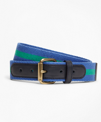 Elastic Casual Stripe Belt