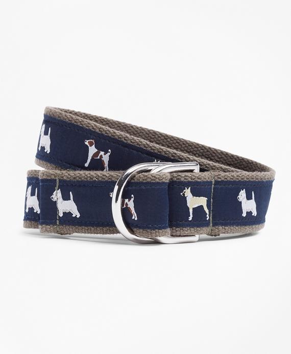 Dog Ribbon Belt Navy