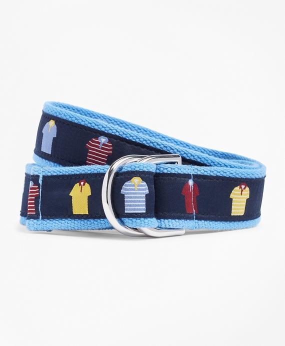 Polo Ribbon Belt Navy