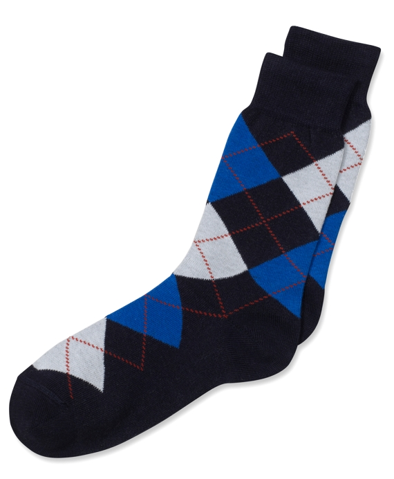 Argyle Socks Navy