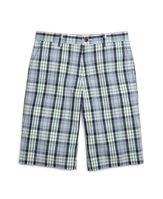 Plaid Shorts Blue