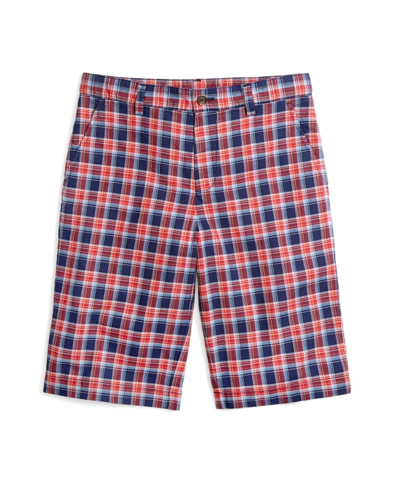 Plaid Shorts Navy-Red