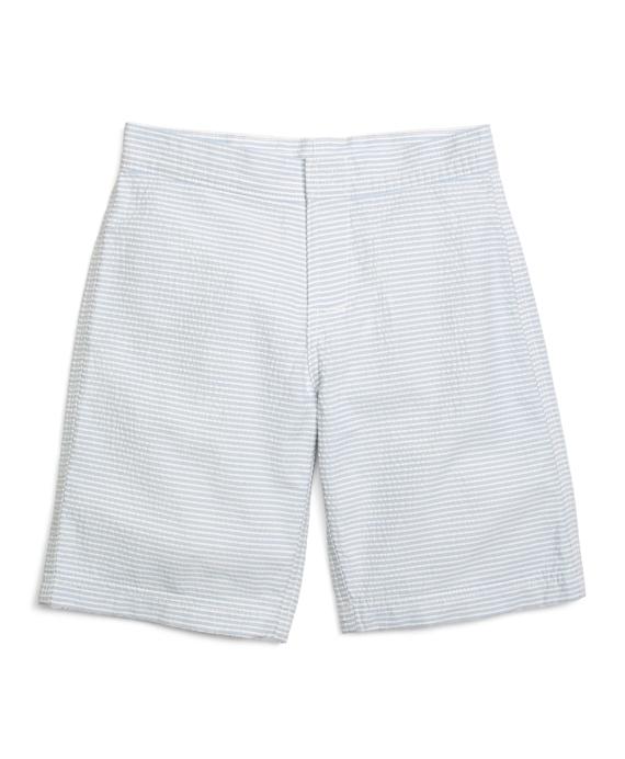 Seersucker Board Shorts Blue