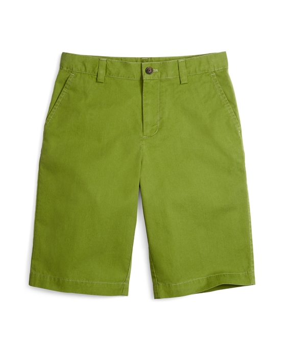 Washed Chino Shorts Green