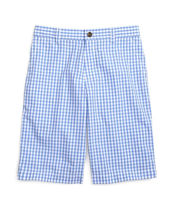 Gingham Shorts Blue