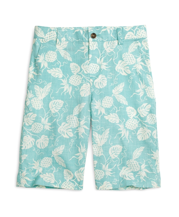 Pineapple Print Shorts Aqua