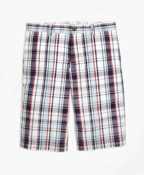 Cotton Multiplaid Shorts