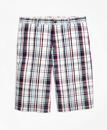 Cotton Multiplaid Shorts