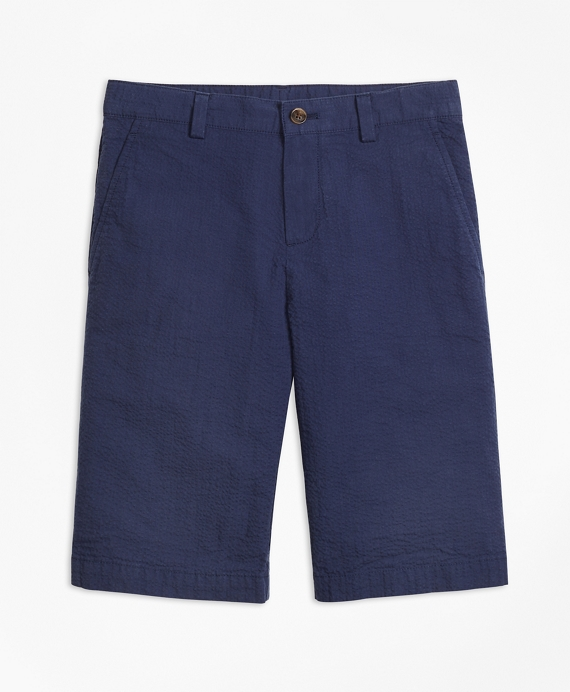 Overdyed Seersucker Shorts