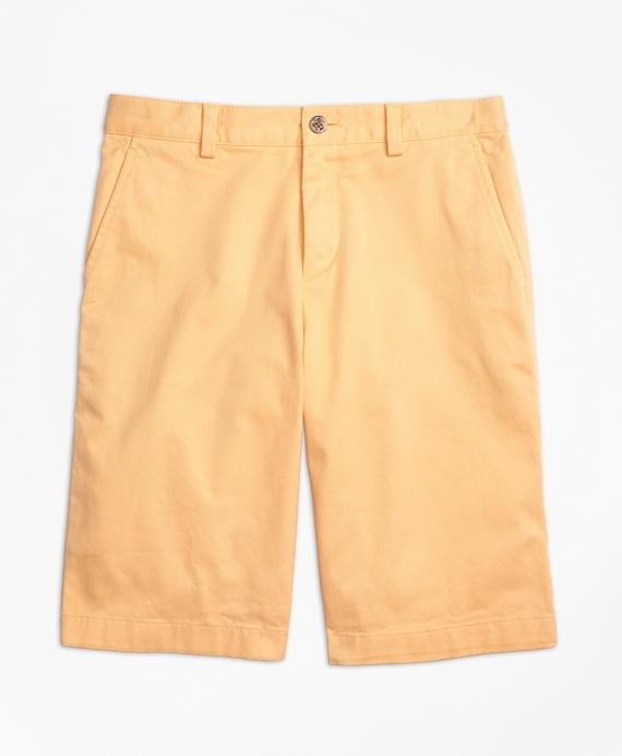 Washed Cotton Stretch Chino Shorts