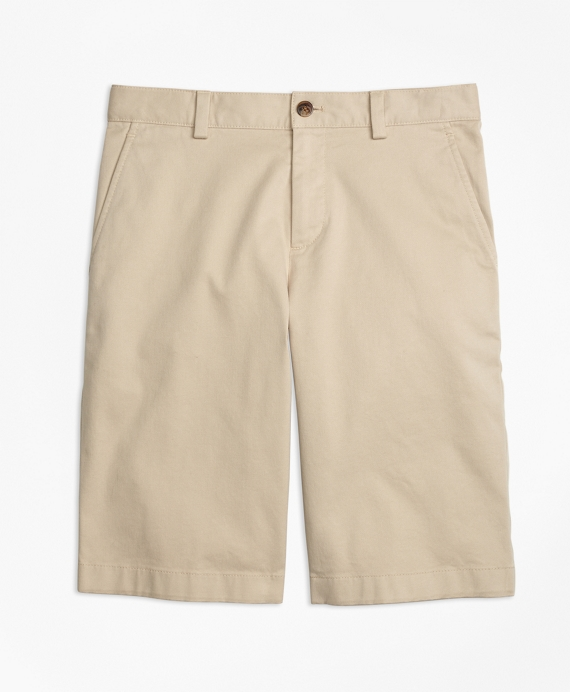 Washed Cotton Stretch Chino Shorts