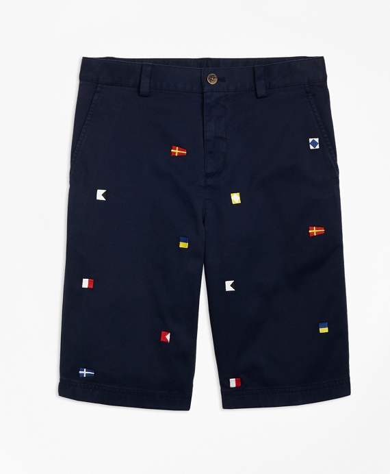 Cotton Nautical Shorts