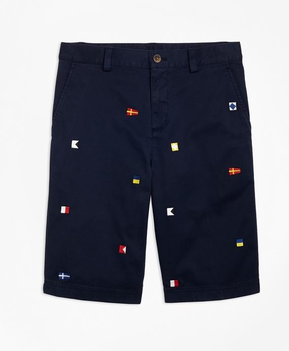 Cotton Nautical Shorts Navy