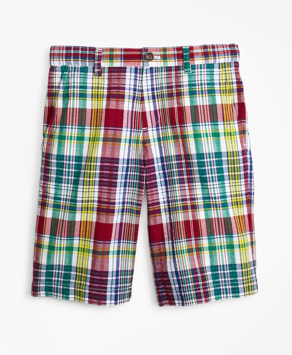 Cotton Madras Seersucker Shorts