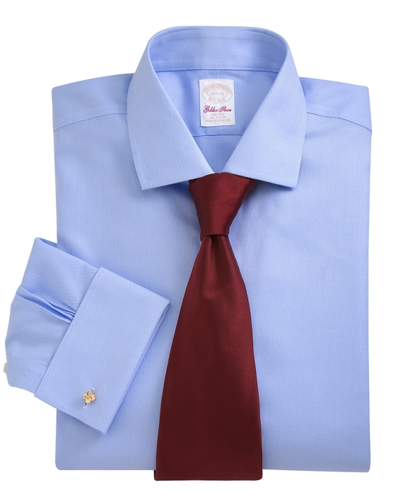 Golden Fleece® Non-Iron Madison Fit Textured French Cuff Dress Shirt French Blue