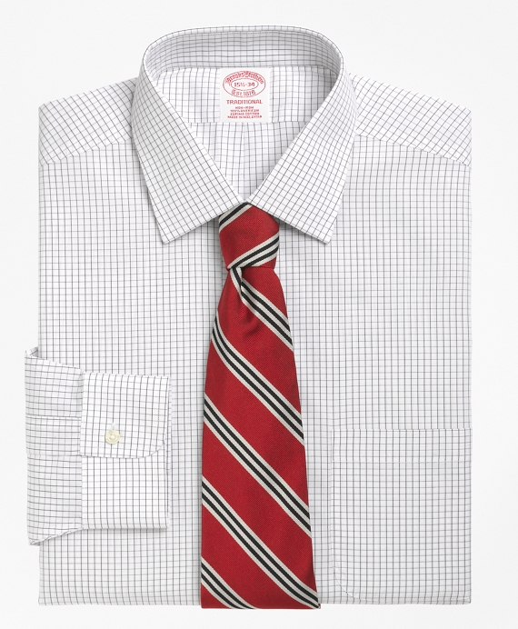 Non-Iron Traditional Fit Graph Check Dress Shirt