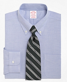 Non-Iron Traditional Fit BrooksCool® Button-Down Collar Dress Shirt