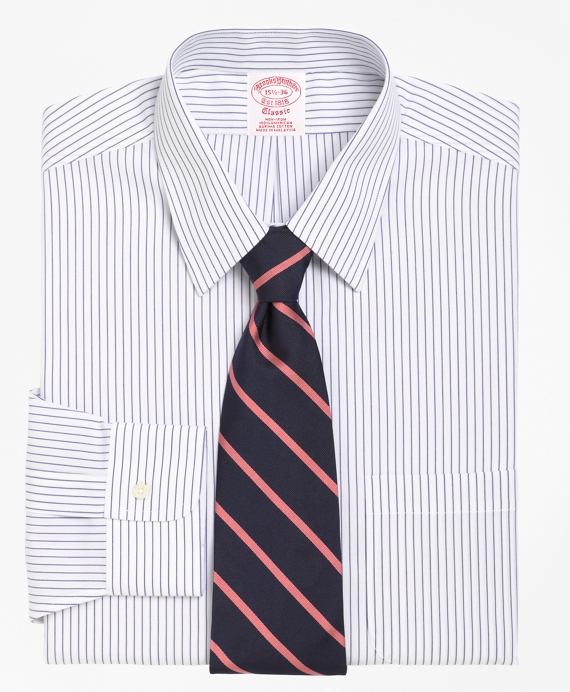 Non-Iron Traditional Fit Pencil Stripe Dress Shirt