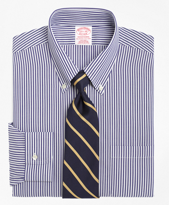 Non-Iron Traditional Fit Bengal Stripe Dress Shirt
