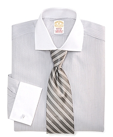 Golden Fleece® Madison Fit Framed Stripe French Cuff Dress Shirt