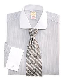 Golden Fleece® Madison Fit Framed Stripe French Cuff Dress Shirt