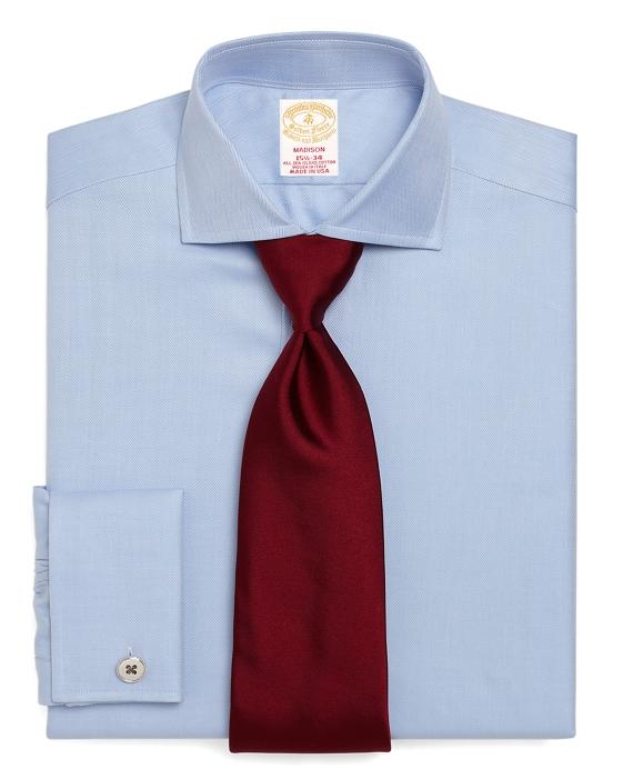 Golden Fleece® Regular Fit Herringbone French Cuff Dress Shirt Light Blue