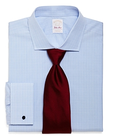 Golden Fleece® Sea Island Cotton Madison Fit Glen Plaid French Cuff Dress Shirt