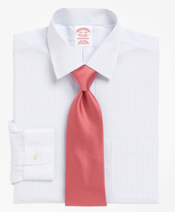 Non-Iron Traditional Fit Medium Check Dress Shirt