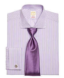 Golden Fleece® Madison Fit Hairline Stripe French Cuff Dress Shirt