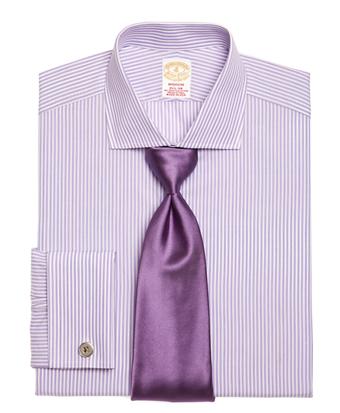 Golden Fleece® Madison Fit Hairline Stripe French Cuff Dress Shirt