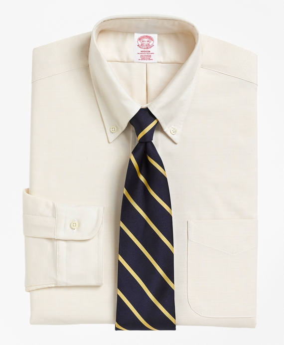 Madison Classic-Fit Dress Shirt, Button-Down Ecru