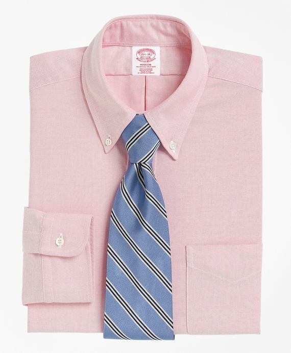 Regular Fit Button-Down Collar Dress Shirt Pink