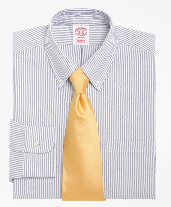 Madison Fit Stripe Dress Shirt Blue